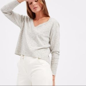 Everlane Cashmere Donegal Cropped Sweater V Neck